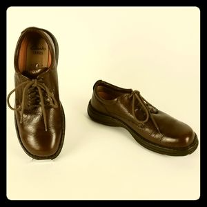 Clarks Unstructured Brown Leather Oxford Shoes